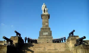 The Royal Sovereign cannon around the Collingwood Monument, Tynemouth (image (c) Neil Wasp i2i Photography