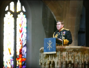 Admiral Sir Mark Stanhope in his address to the congregation  (image (c) Neil Wasp i2i Photography)