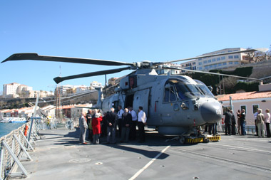 HMS Monmouth's Merlin helicopter.