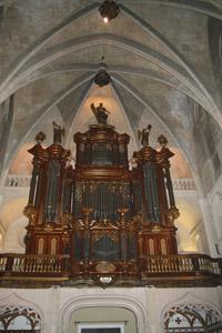 The magnificant organ in the Church of Santa Maria.