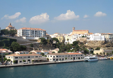 The waterfront at Port Mahón.